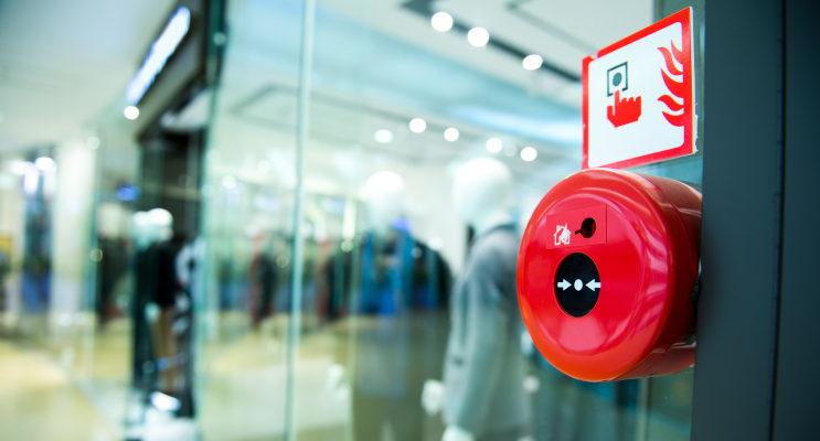 Commercial shop fire alarm